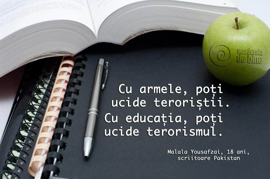 Cine e de acord cu educatia n-o întrerupe niciodata